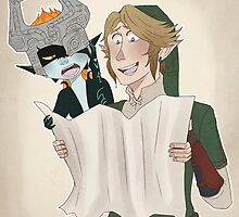 Link and Midna Travel by ArtyHylian