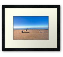 Old Wharf Pilgrim Beach Truro Massachusetts Framed Print