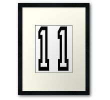 11, TEAM SPORTS, NUMBER 11, Eleven, Eleventh, Competition Framed Print