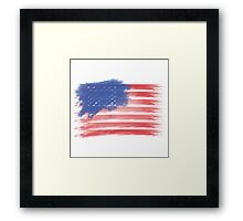 United States of America Flag USA Framed Print