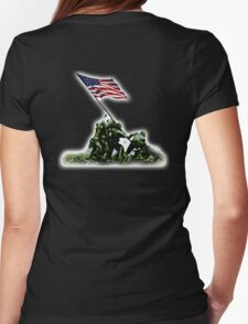 American War Flag, USA, Raising the Colours, Iwo Jima, America, Americana, WW2, WWII T-Shirt