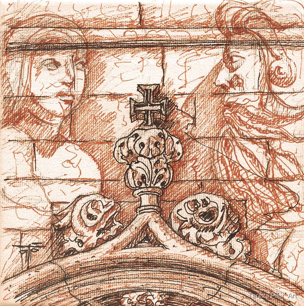 Jerónimos sketch II by terezadelpilar ~ art & architecture