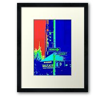 Bleecker Street Sign, New York Framed Print