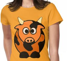ღ°㋡Cute Brindled Cow Clothing & Stickers㋡ღ° Womens Fitted T-Shirt