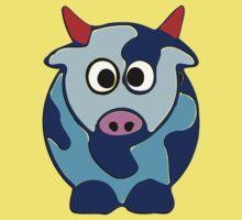 ღ°㋡Cute Brindled Cow with Red Horns Clothing & Stickers㋡ღ° Kids Clothes