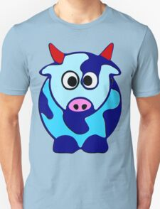 ღ°㋡Cute Brindled Cow with Red Horns Clothing & Stickers㋡ღ° T-Shirt