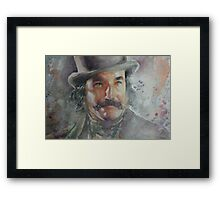 Daniel Day Lewis - Portrait 2 Framed Print