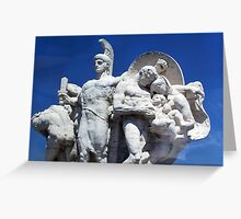 Beautiful Sculpture Trevi Fountain Rome Italy Greeting Card
