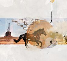 Classic Western film theme contemporary collage by mikath