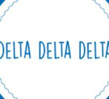 Delta Delta Delta Circle Sticker Sticker