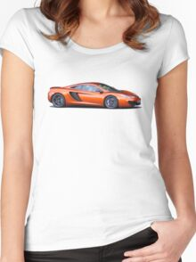 McLaren MP4-12c Women's Fitted Scoop T-Shirt