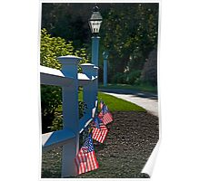 Fourth Of July Fence Poster