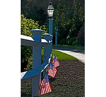 Fourth Of July Fence Photographic Print