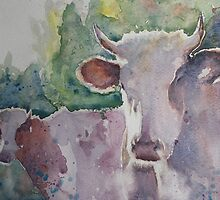 Cows - 1  by artsNportraits