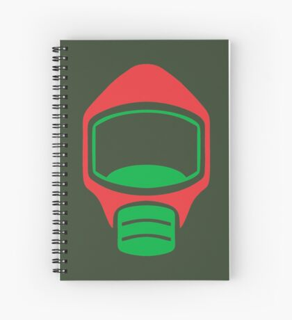 Emergency Escape Mask (or Smoke Hood, or Gas Mask) Sign Spiral Notebook