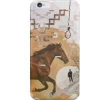 Classic Western film theme contemporary collage iPhone Case/Skin