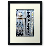 Who's there? San Francisco Framed Print