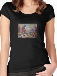 Hallowe'en Comes to Town Women's Fitted Scoop T-Shirt