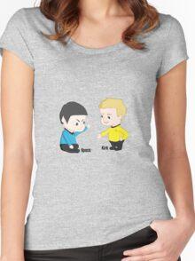 Star Trek - Little Kirk and Spock Women's Fitted Scoop T-Shirt