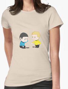 Star Trek - Little Kirk and Spock Womens Fitted T-Shirt
