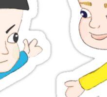 Star Trek - Little Kirk and Spock Sticker