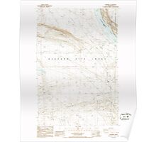 USGS Topo Map Washington State WA Hanford 241473 1986 24000 Poster