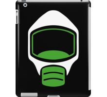 Emergency Escape Mask (or Smoke Hood, or Gas Mask) Sign iPad Case/Skin
