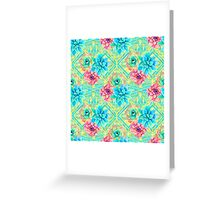 Spring Tribal Succulent Greeting Card