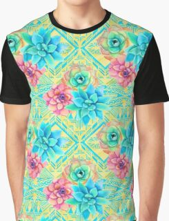 Spring Tribal Succulent Graphic T-Shirt