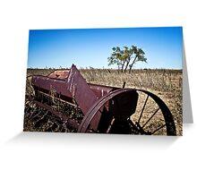 abandoned rural farm equipment Greeting Card