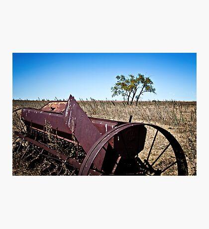 abandoned rural farm equipment Photographic Print