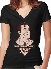 Ash from Evil Dead Women's Fitted V-Neck T-Shirt