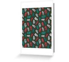Mittens - Green by Andrea Lauren  Greeting Card