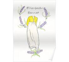 Elizabeth bennet silhouette Poster