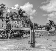 The Pool at Harbour Side Village in Paradise Island, The Bahamas by Jeremy Lavender Photography