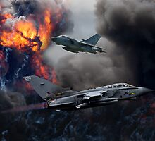 Tornado GR4 Bombing Run by AviationPrints