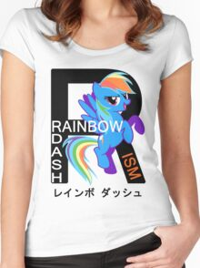 Rainbow-Dashism: MLP FiM Women's Fitted Scoop T-Shirt