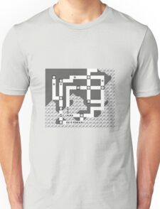 Kanto Town Map Pokemon Red, Blue, and Yellow Unisex T-Shirt