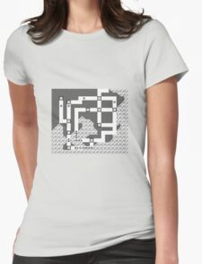 Kanto Town Map Pokemon Red, Blue, and Yellow Womens Fitted T-Shirt