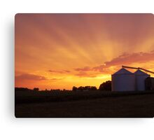 A Country Sunset Canvas Print