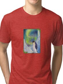 Peace Penguin Tri-blend T-Shirt