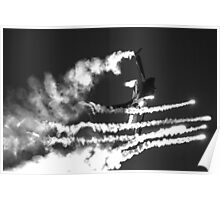 F16 firing flares Poster