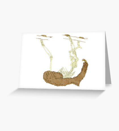 Skeleton Of A Sloth Greeting Card