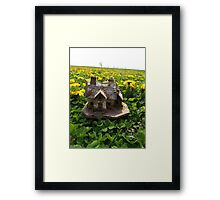 Mini Cottage in a Bed of Dandelions Framed Print