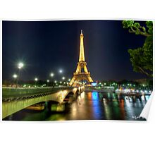 Eiffel Tower and River Sienne Poster