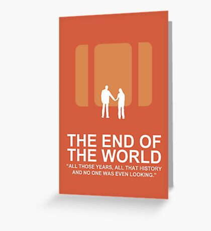 Minimalist 'The End of the World'  Poster Greeting Card