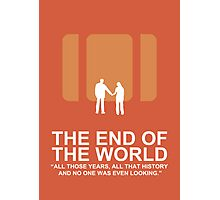Minimalist 'The End of the World'  Poster Photographic Print