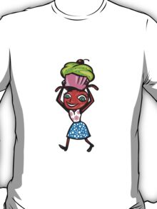 Female Ant Carrying Cupcake and Cookie T-Shirt