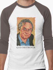 God Destroyer Richard Dawkins Men's Baseball ¾ T-Shirt