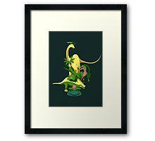 Pokesaurs - Grassiosaurs Framed Print